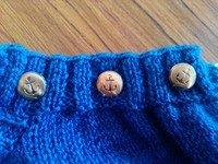 boutons dans tricot