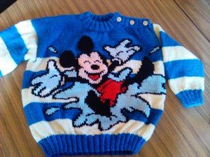 comment tricoter un pull mickey