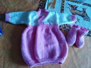 robe+chausson dans tricot