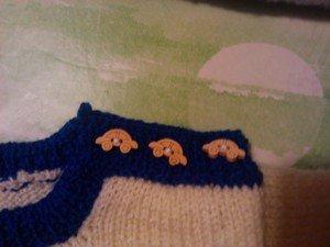 bouton-voiture dans tricot