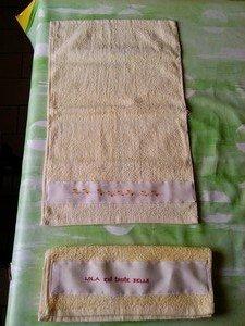 Machine sortie dans couture serviette-lola